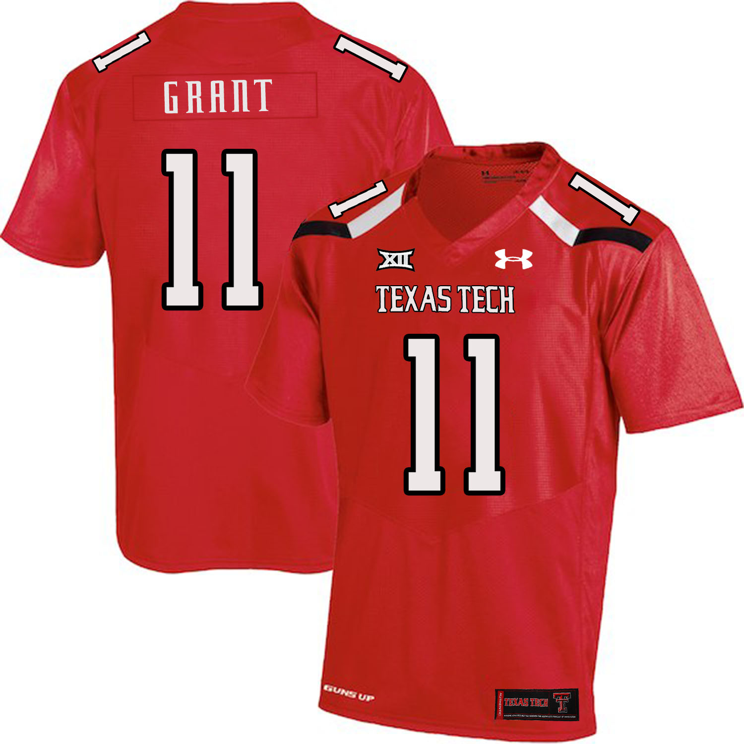 Texas Tech Red Raiders 11 Jakeem Grant Red College Football Jersey