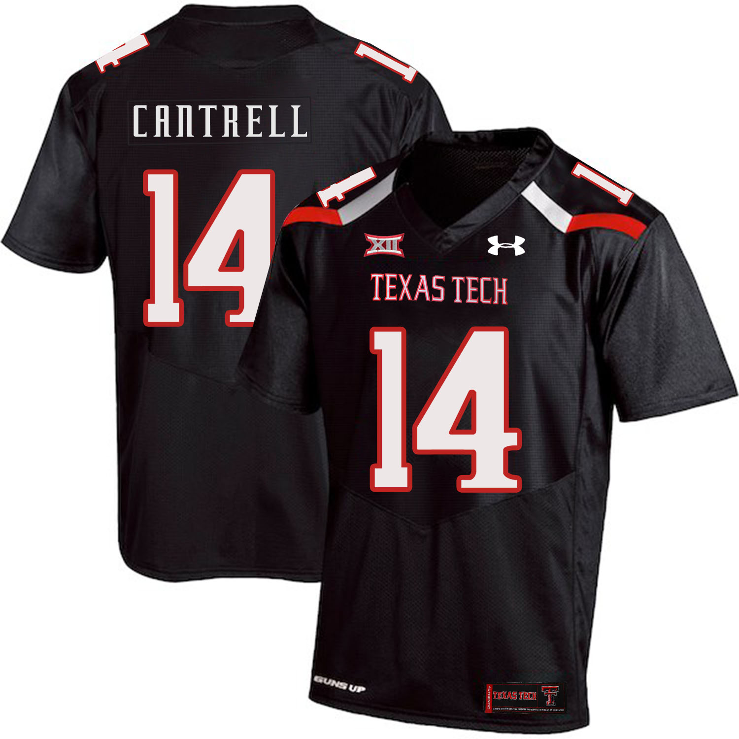 Texas Tech Red Raiders 14 Dylan Cantrell Black College Football Jersey