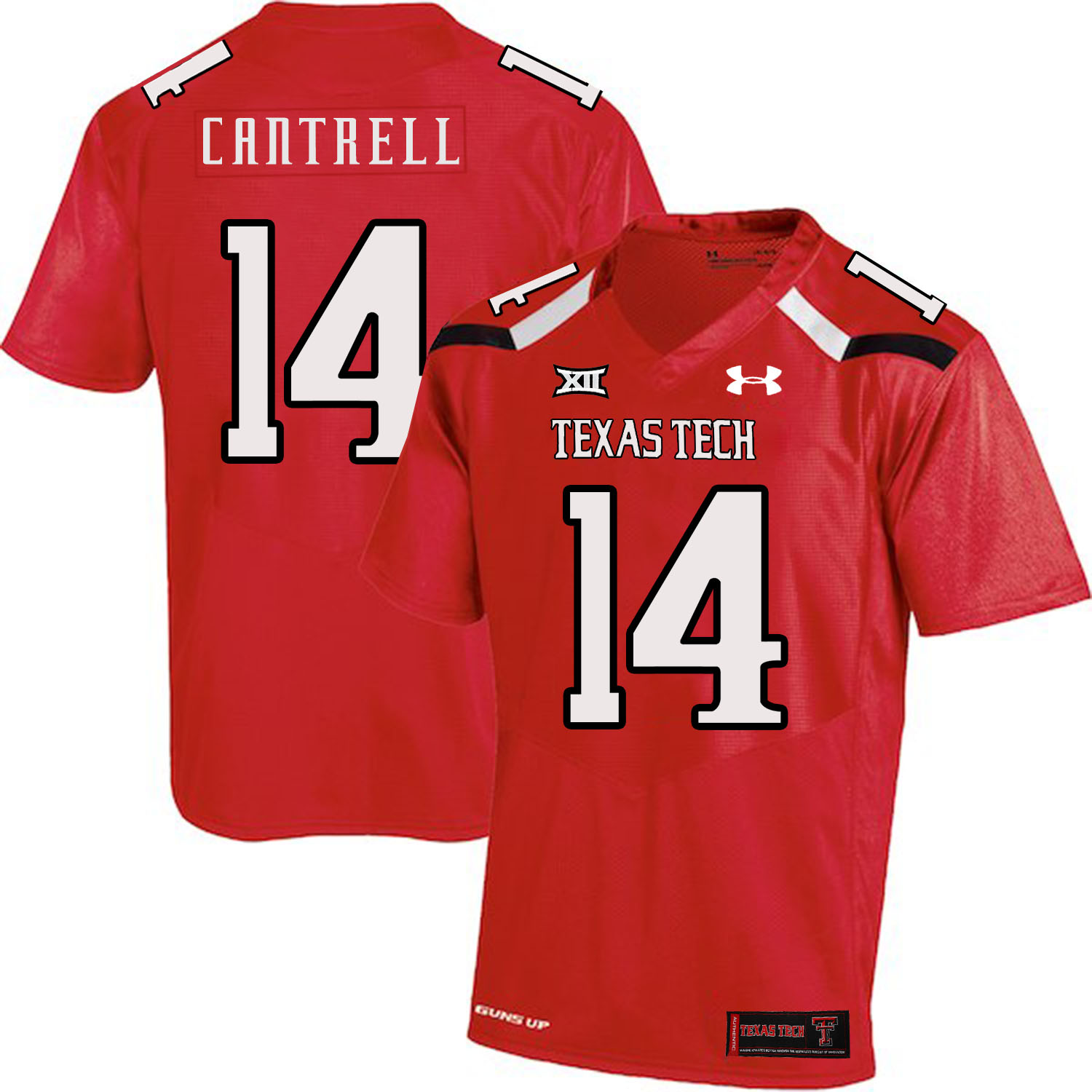 Texas Tech Red Raiders 14 Dylan Cantrell Red College Football Jersey