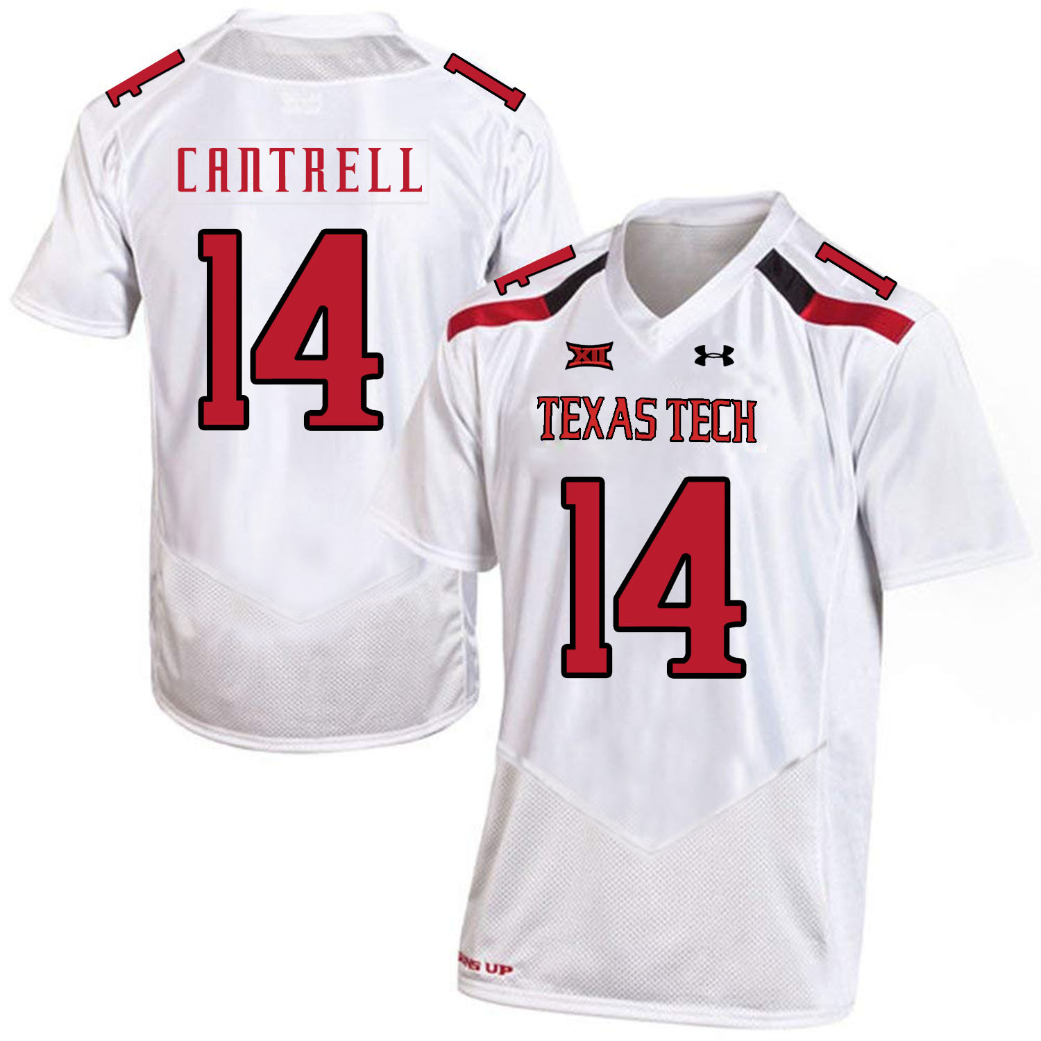 Texas Tech Red Raiders 14 Dylan Cantrell White College Football Jersey