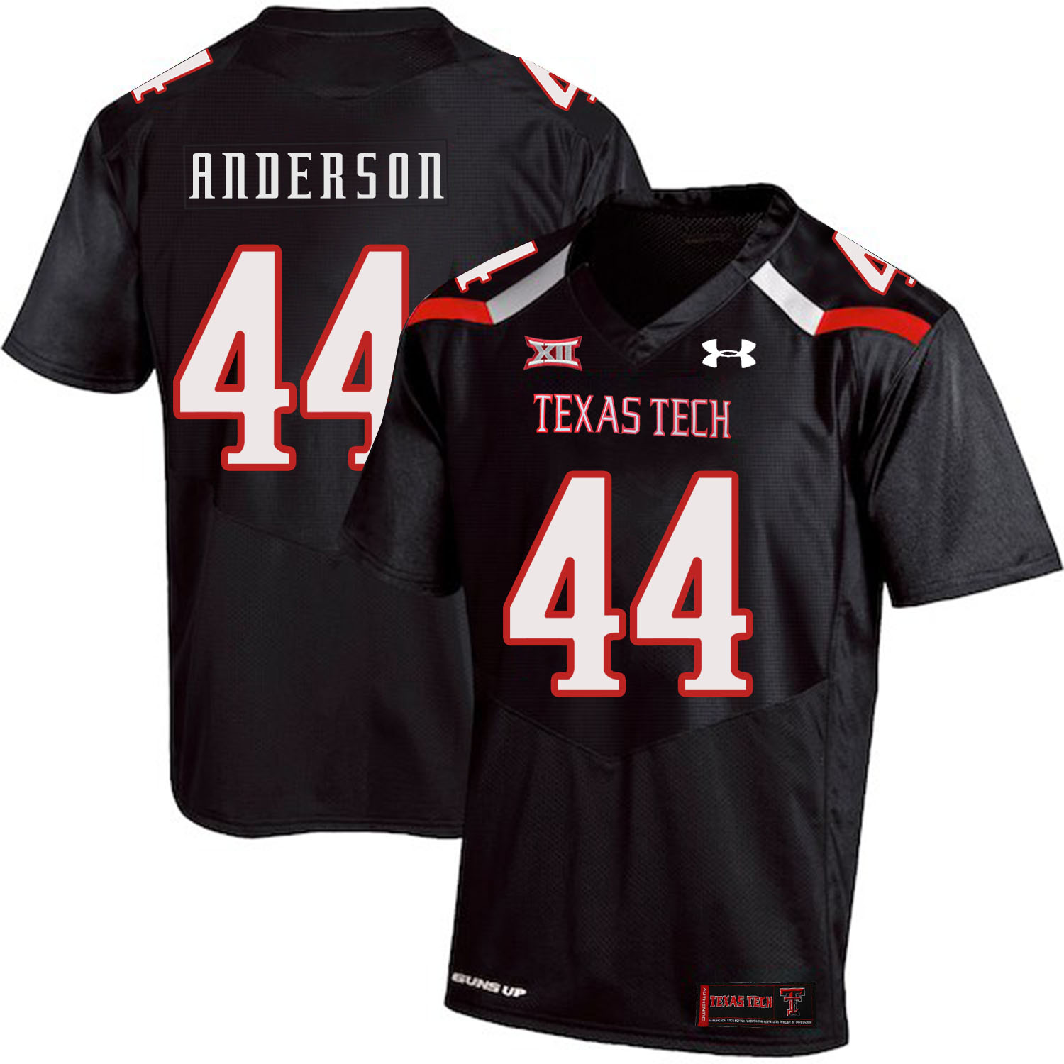 Texas Tech Red Raiders 44 Donny Anderson Black College Football Jersey
