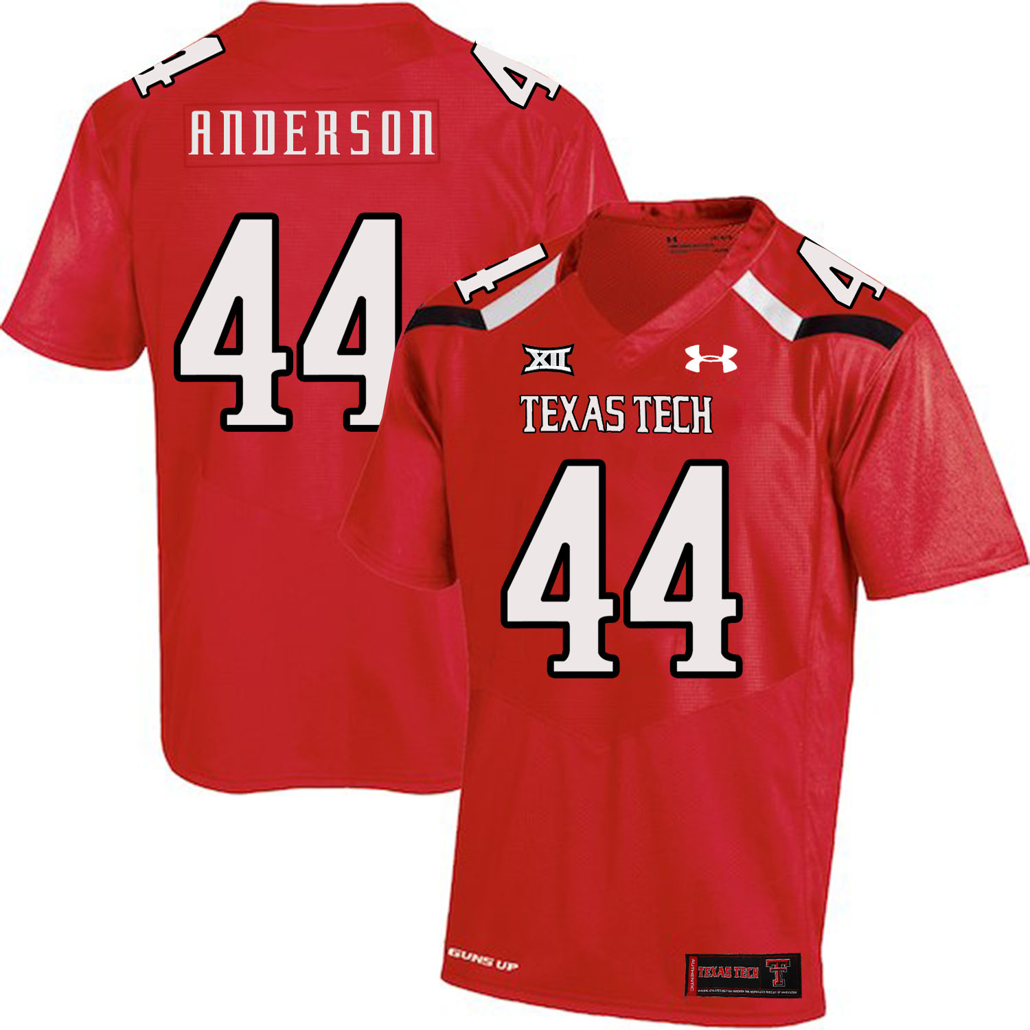 Texas Tech Red Raiders 44 Donny Anderson Red College Football Jersey