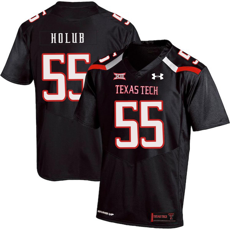 Texas Tech Red Raiders 55 E.J. Holub Black College Football Jersey