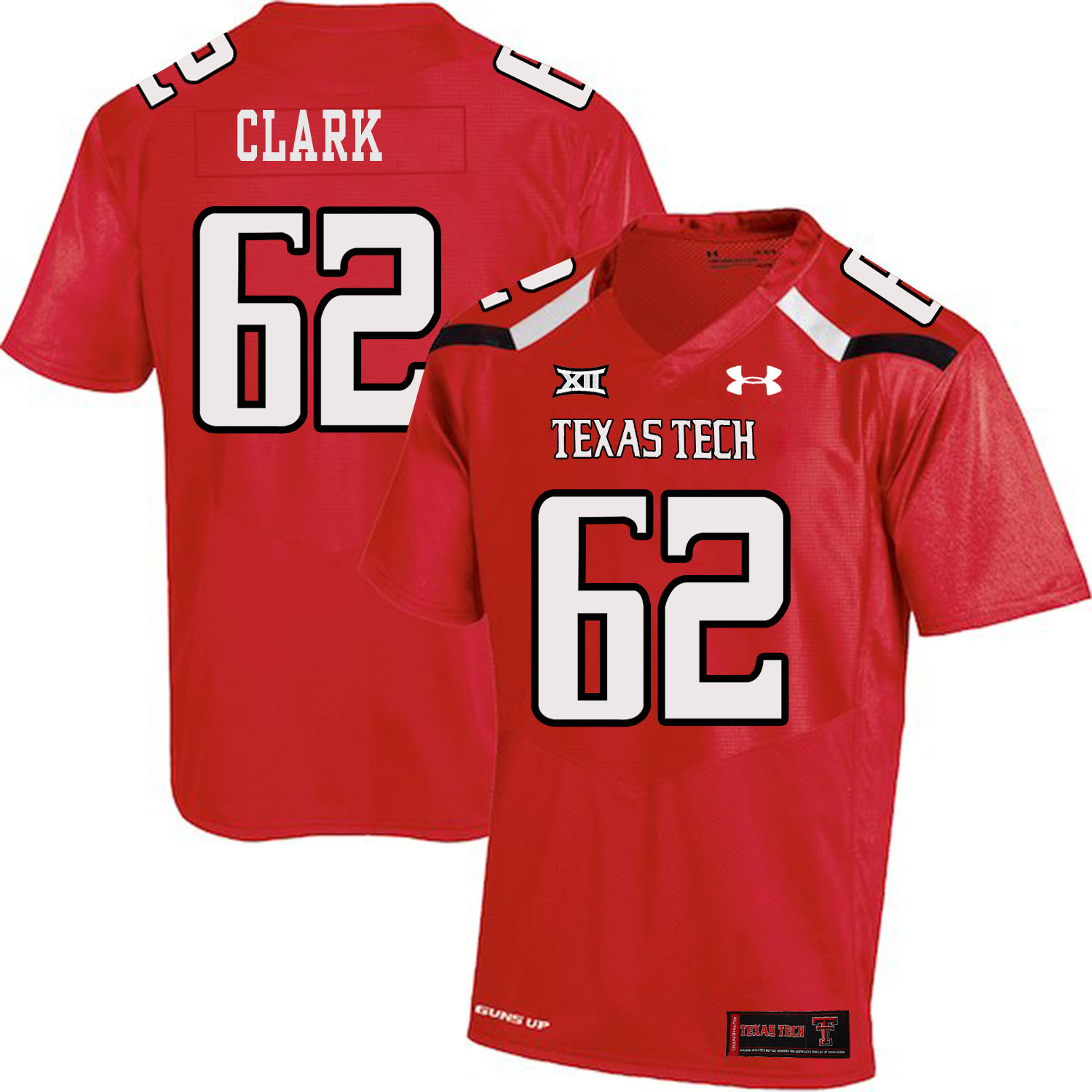 Texas Tech Red Raiders 62 Le'Raven Clark Red College Football Jersey