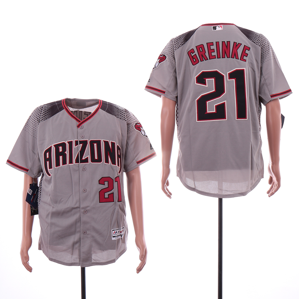 Diamondbacks 21 Zack Greinke Gray Flexbase Jersey