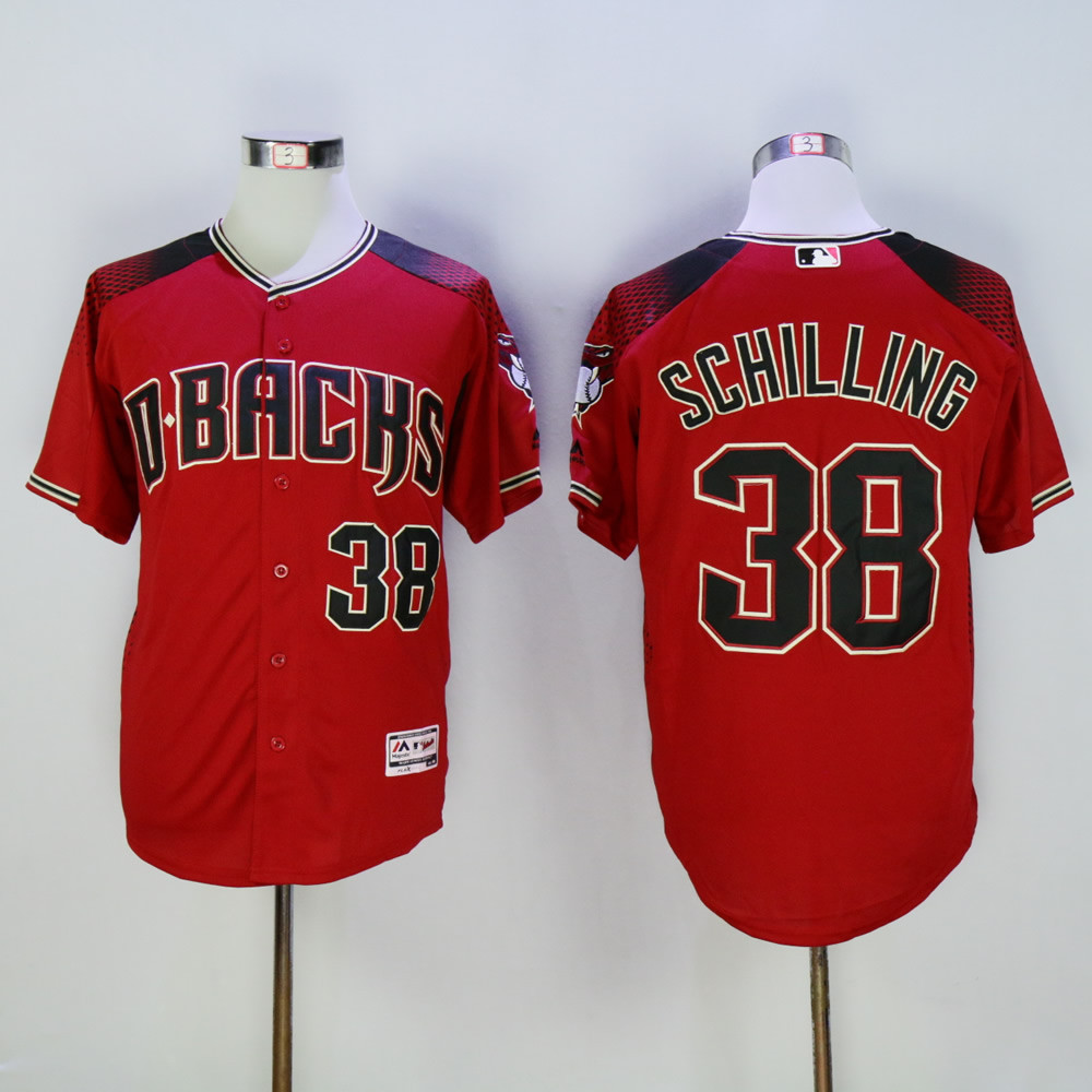 Diamondbacks 38 Curt Schilling Red Flexbase Jersey