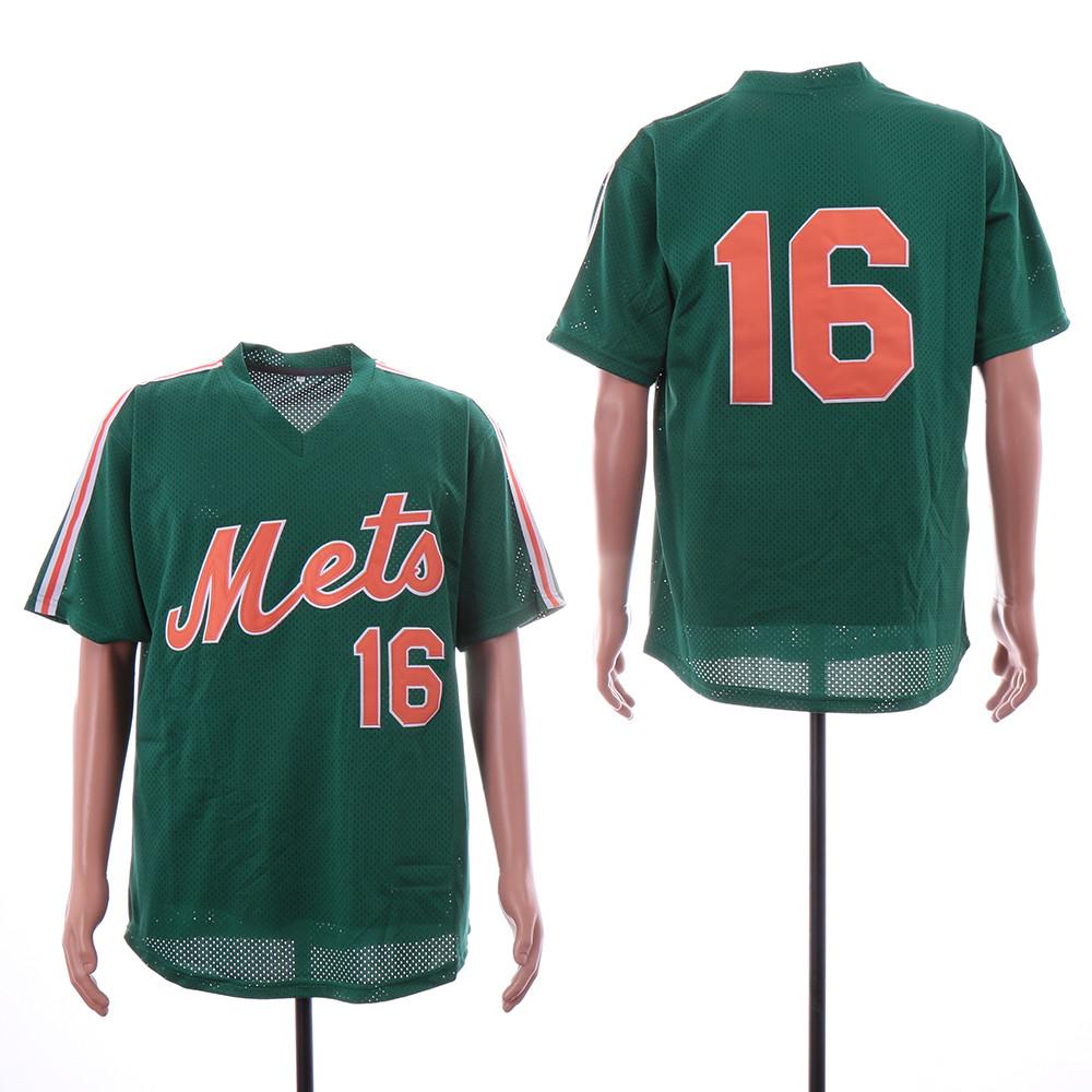 Mets 16 Dwight Gooden Green Mesh Throwback Jersey