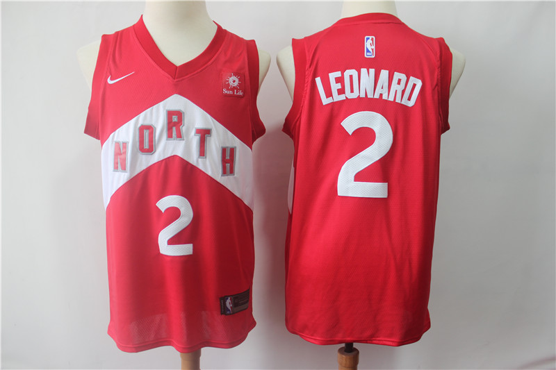 Raptors 2 Kawhi Leonard Red 2018-19 Earned Edition Nike Swingman Jersey
