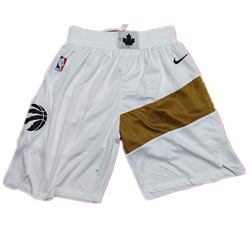 Raptors White 2018-19 City Edition Shorts