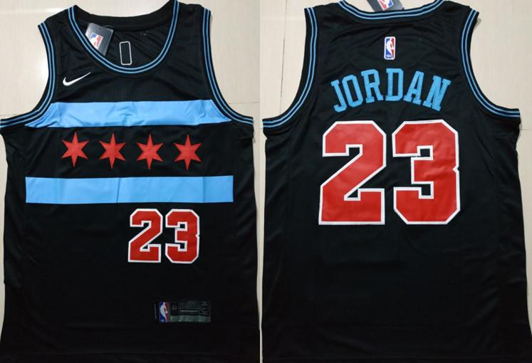 Bulls 23 Michael Jordan Black 2018-19 City Edition Nike Swingman Jersey