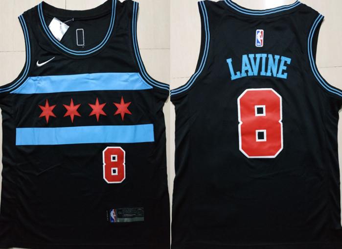 Bulls 8 Zach Lavine Black 2018-19 City Edition Nike Swingman Jersey