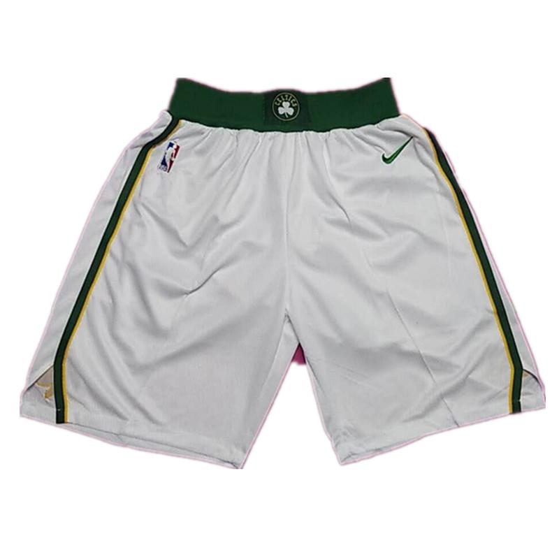 Celtics White 2018-19 City Edition Nike Swingman Shorts