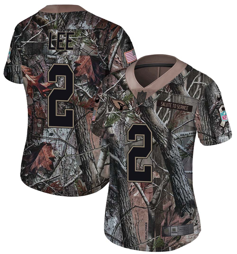 Nike Cardinals 2 Andy Lee Camo Women Rush Limited Jersey