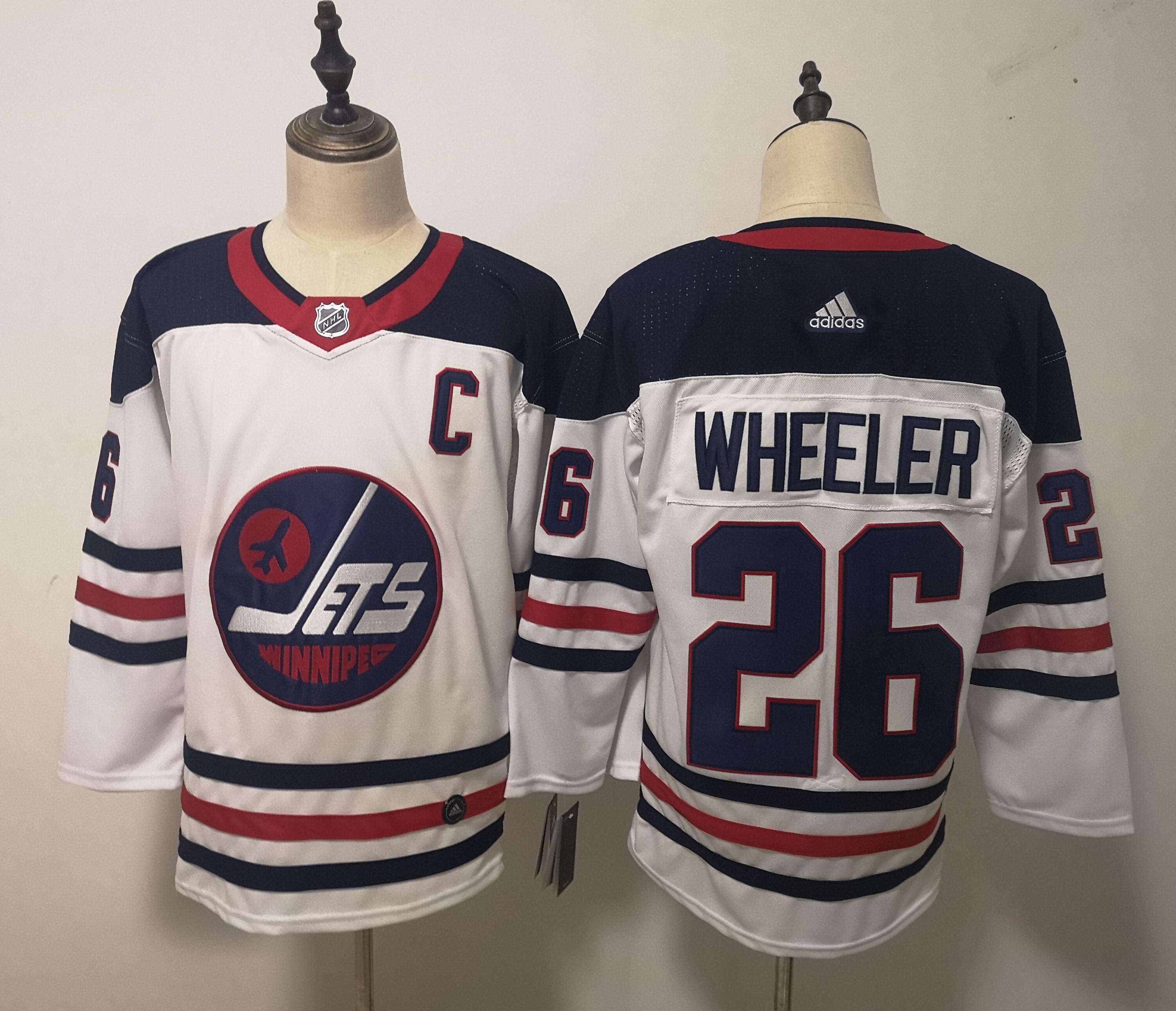 Winnipeg Jets 26 Blake Wheeler White Breakaway Heritage Adidas Jersey
