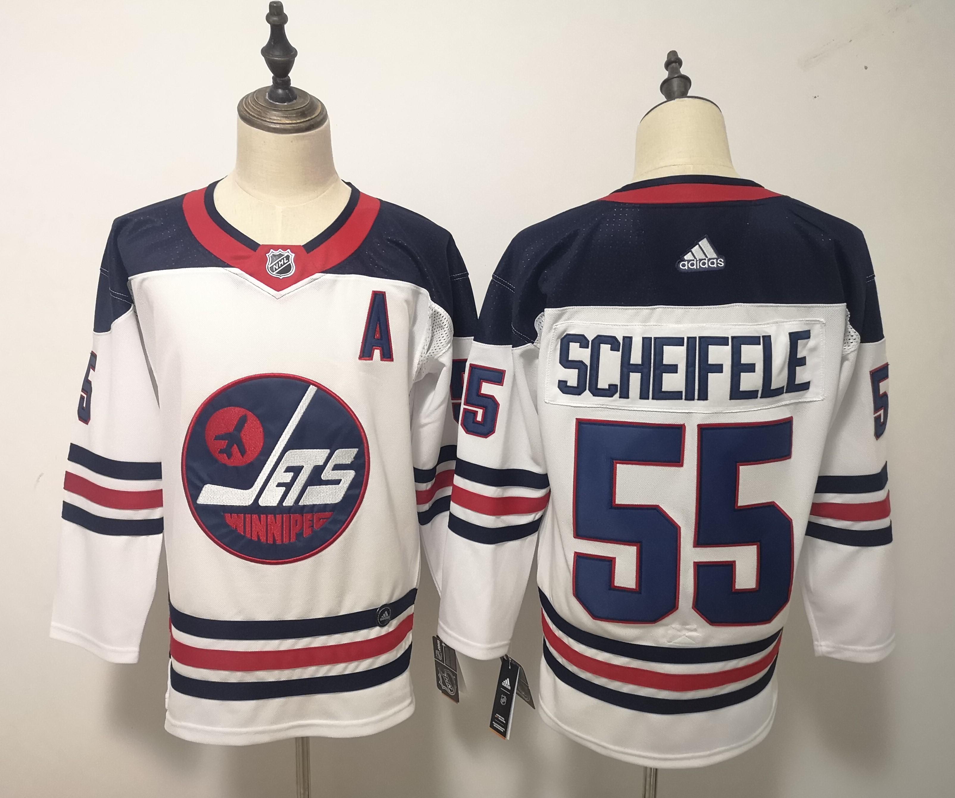 Winnipeg Jets 55 Mark Sceifele White Breakaway Heritage Adidas Jersey