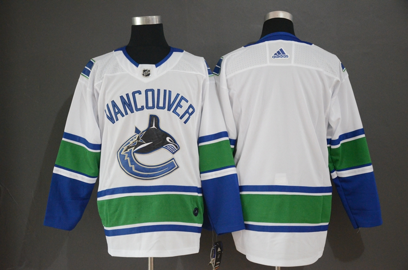 Canucks Blank White Adidas Jersey