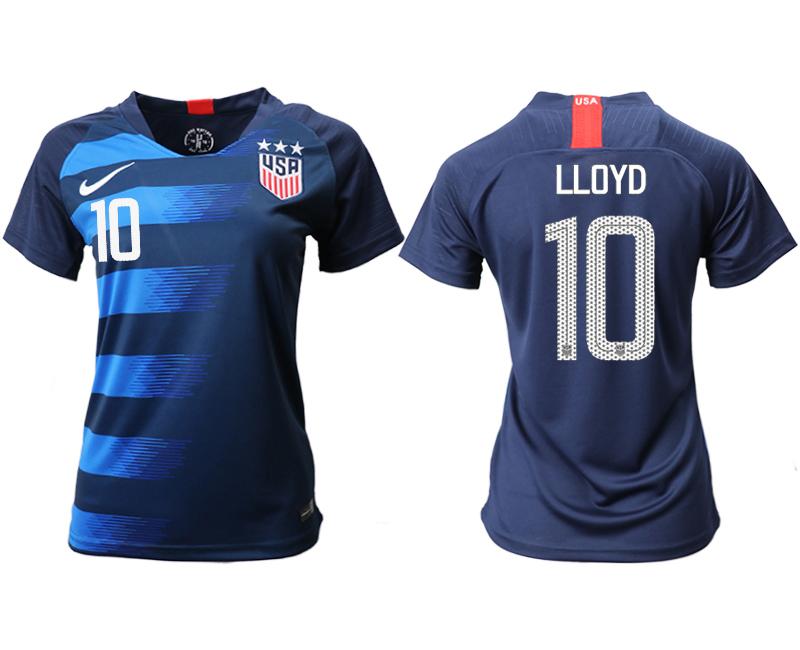 2018-19 USA 10 LLOYD Away Women Soccer Jersey