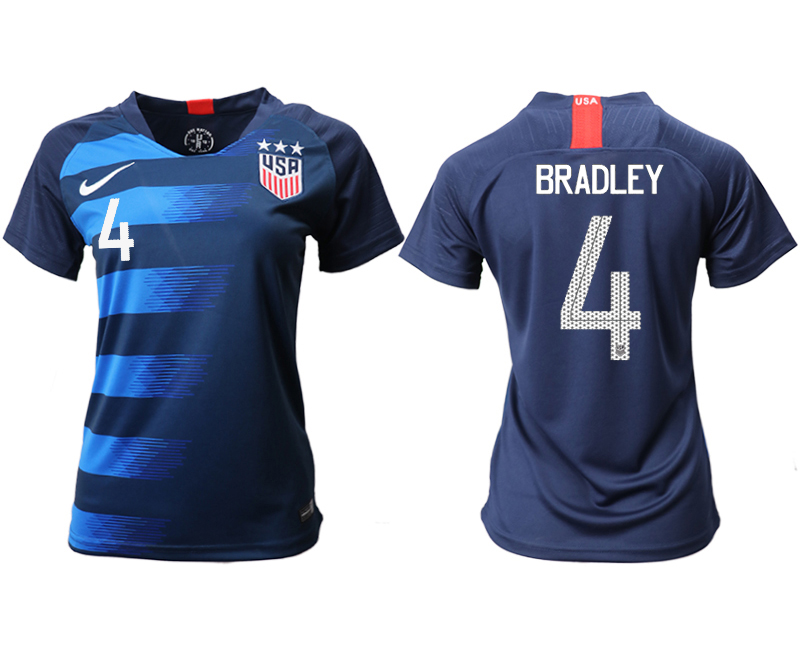 2018-19 USA 4 BRADLEY Away Women Soccer Jersey