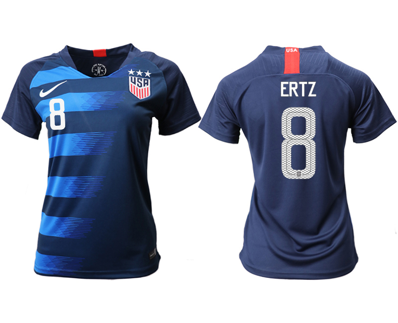 2018-19 USA 8 ERTZ Away Women Soccer Jersey