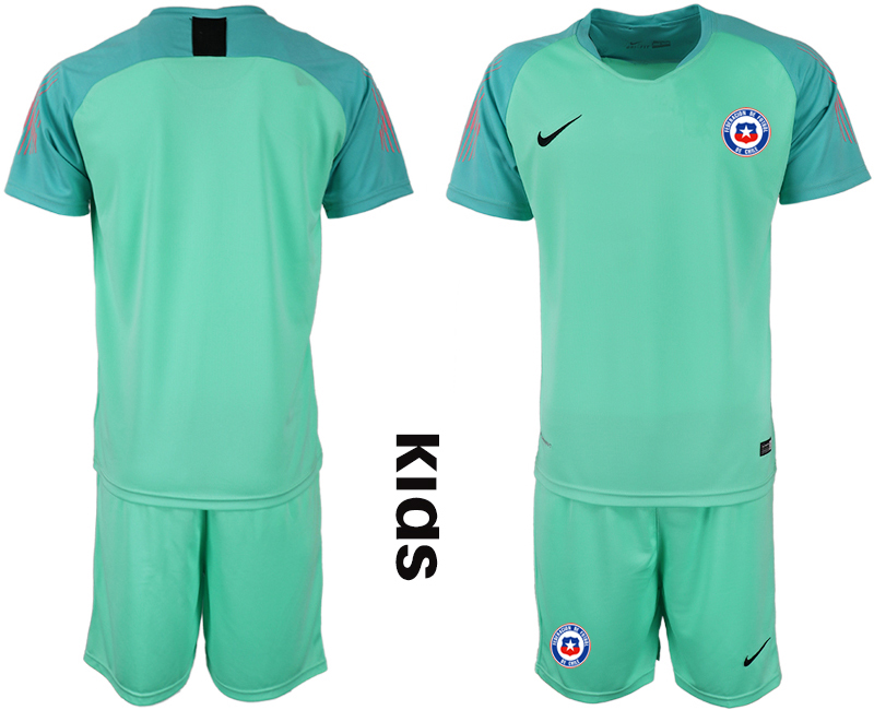 2018-19 Chile Green Youth Goalkeeper Soccer Jersey