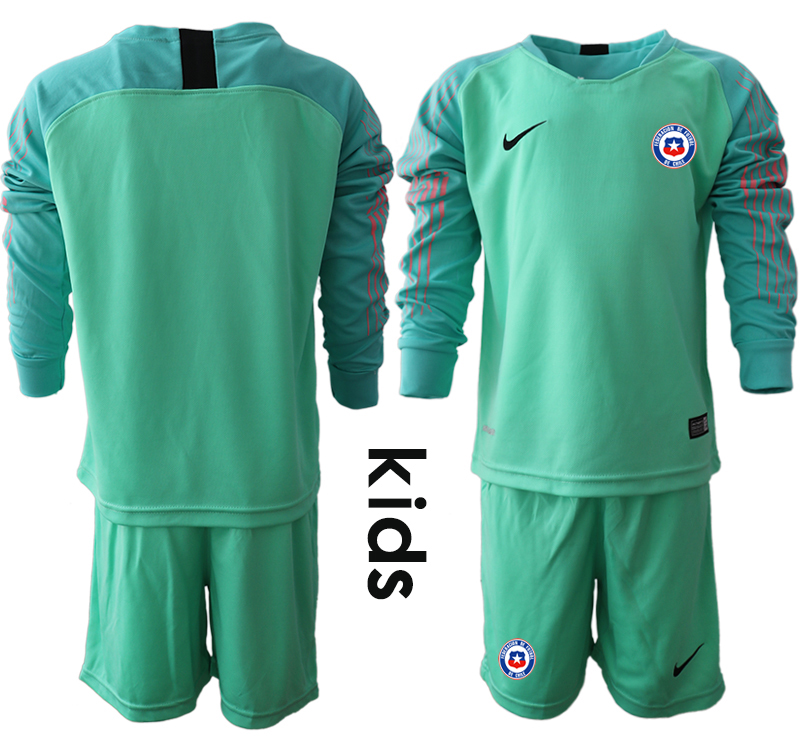 2018-19 Chile Green Youth Long Sleeve Goalkeeper Soccer Jersey