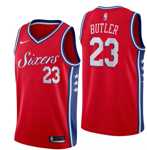 76ers 23 Jimmy Butler Red Nike Swingman Jersey