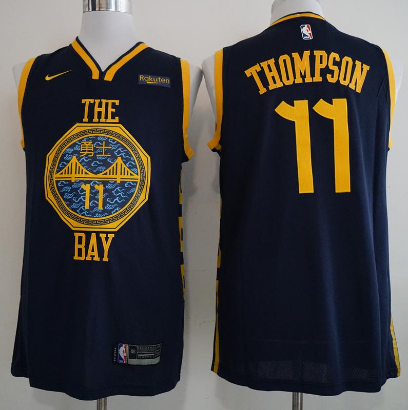 Warriors 11 Klay Thompson Navy 2018-19 City Edition Nike Swingman Jersey