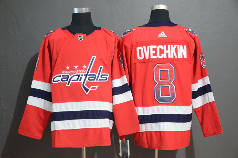 Capitals 8 Alex Ovechkin Red Drift Fashion Adidas Jersey