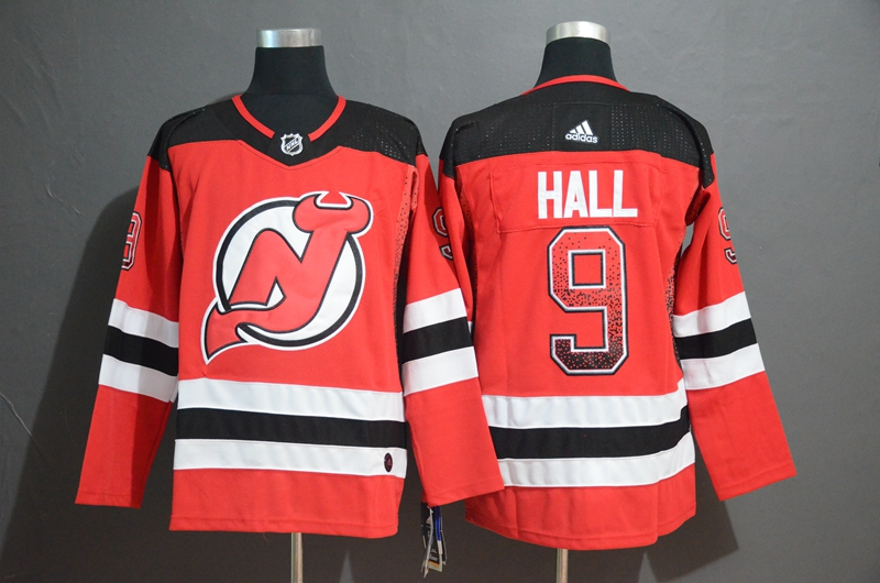 Devils 9 Taylor Hall Red Drift Fashion Adidas Jersey