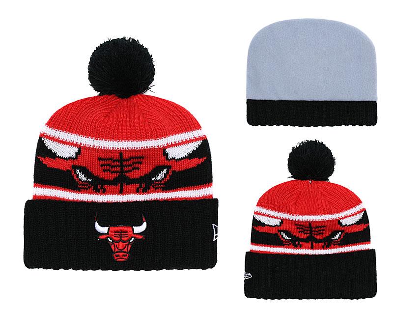 Bulls Fresh Logo Black Pom Knit Hat YD