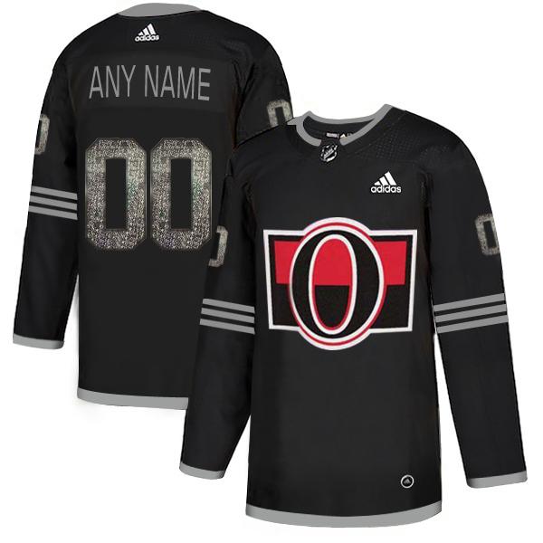 Senators Black Shadow Men's Customized Adidas Jersey