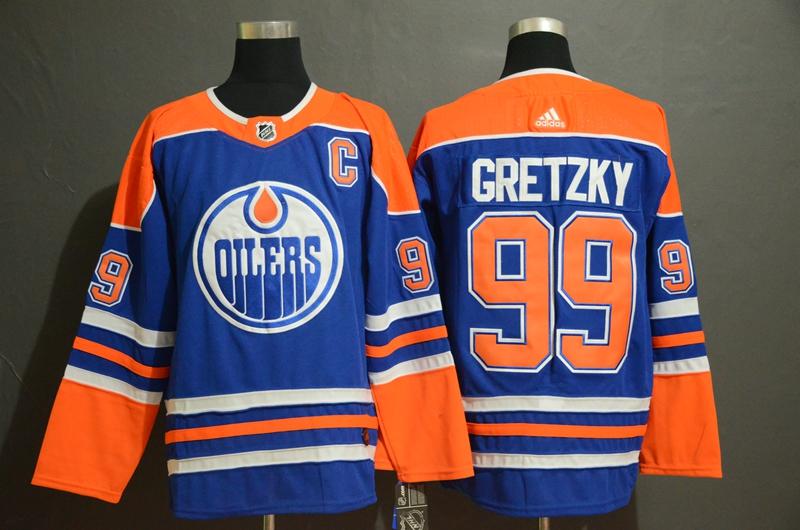 Oilers 99 Wayne Gretzky Royal Adidas Jersey