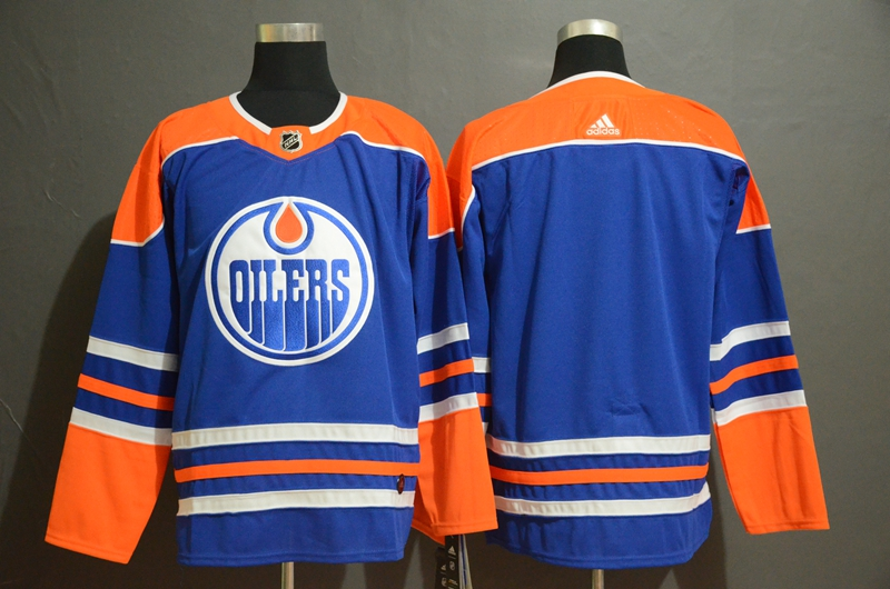 Oilers Blank Royal Adidas Jersey