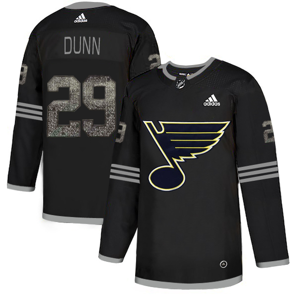Blues 29 Vince Dunn Black Shadow Adidas Jersey