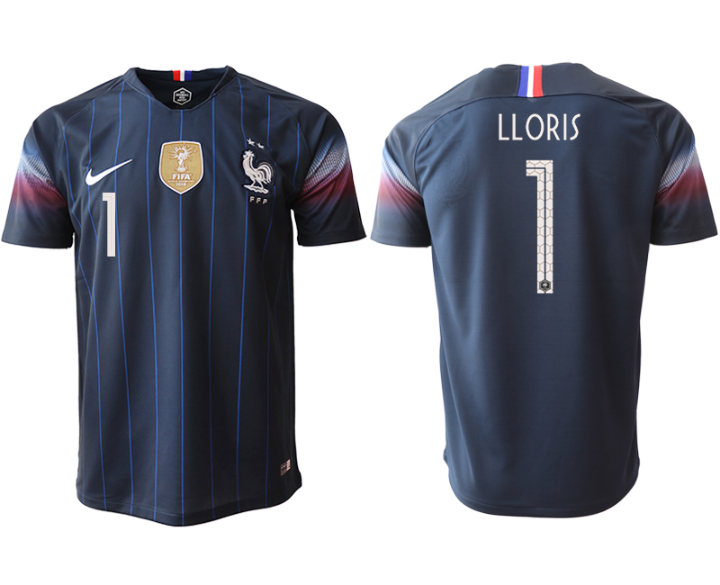 2018-19 France 1 LLORIS Home Thailand Soccer Jersey