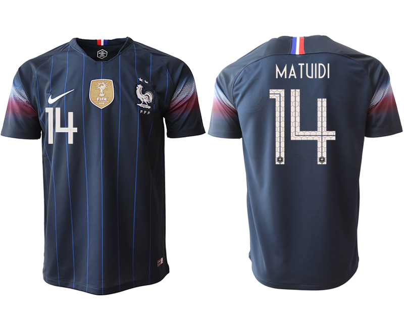 2018-19 France 14 MATUIDI Home Thailand Soccer Jersey