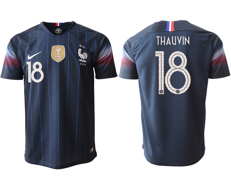 2018-19 France 18 THAUVIN Home Thailand Soccer Jersey