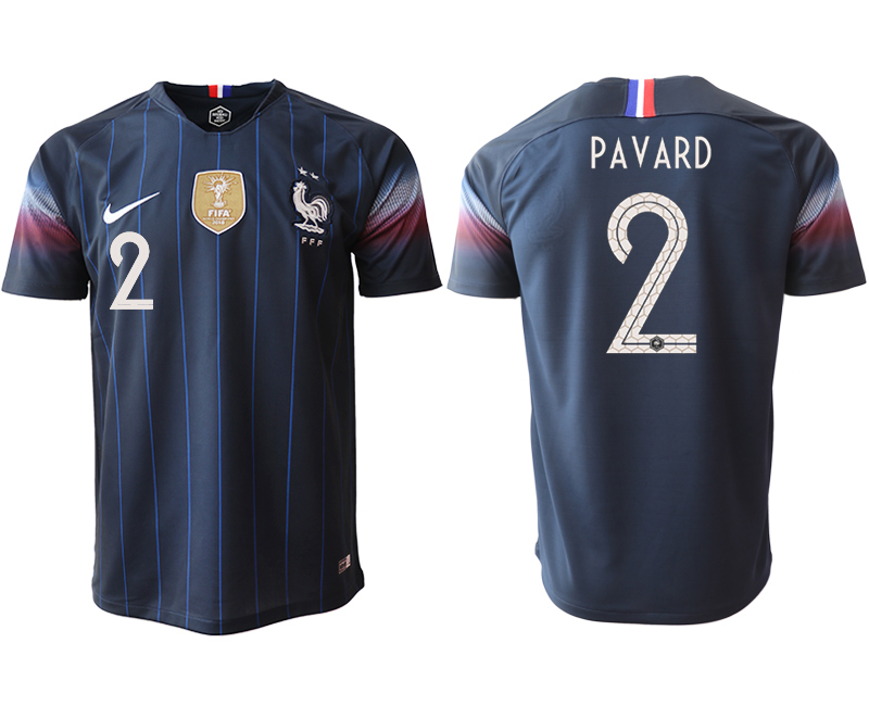 2018-19 France 2 PAVARD Home Thailand Soccer Jersey
