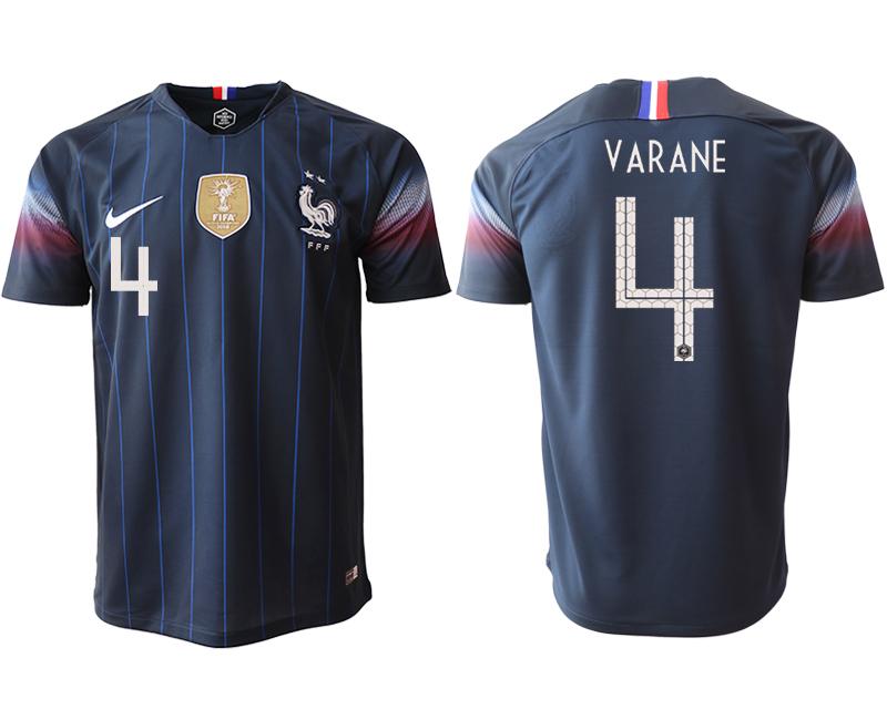 2018-19 France 4 VARANE Home Thailand Soccer Jersey