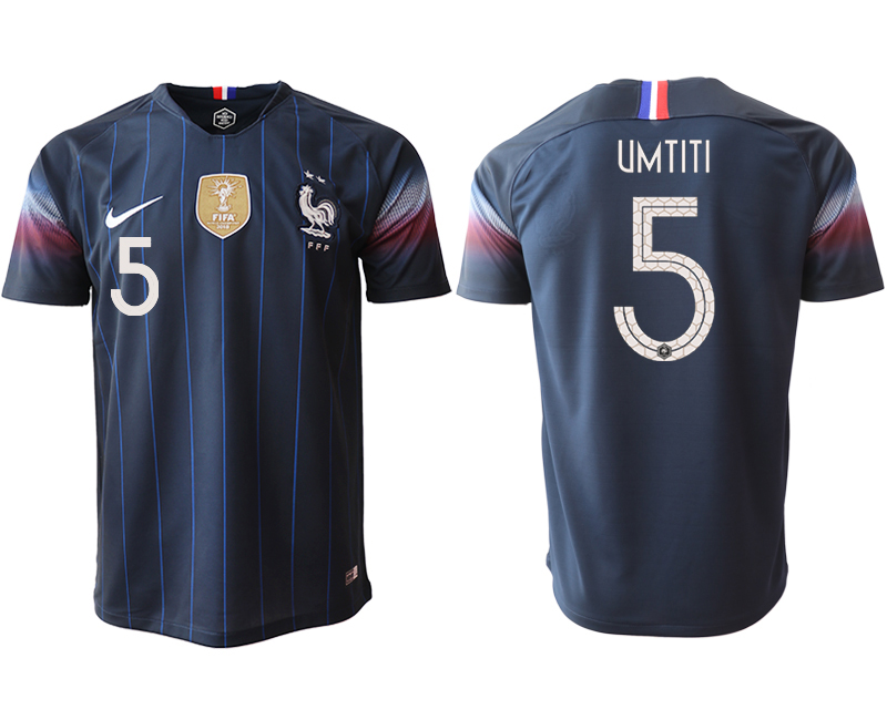2018-19 France 5 UNTITI Home Thailand Soccer Jersey