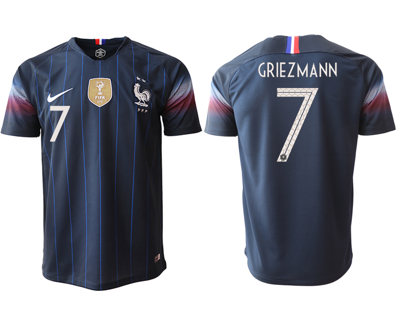 2018-19 France 7 GRIEZMANN Home Thailand Soccer Jersey