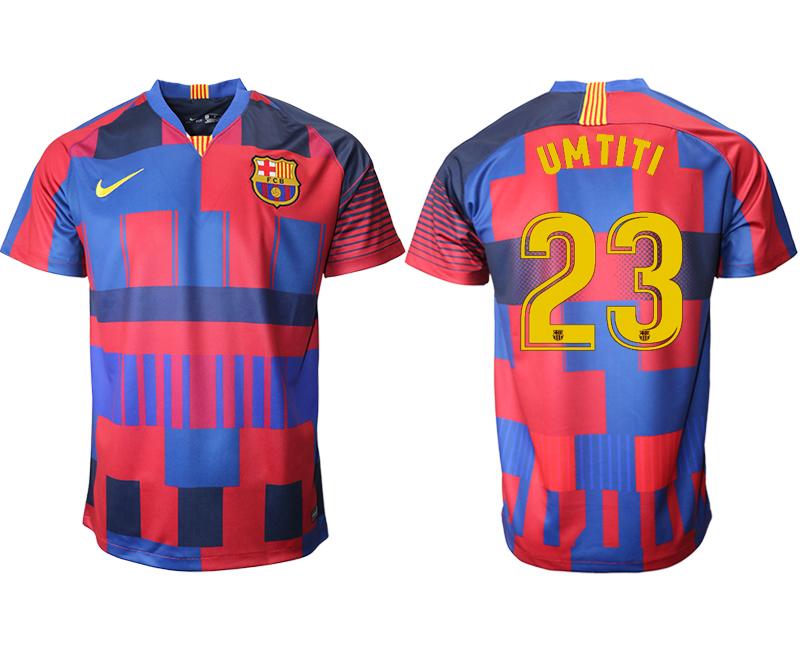 2018-19 Barcelona 23 UMTITI 20th Anniversary Stadium Soccer Jersey