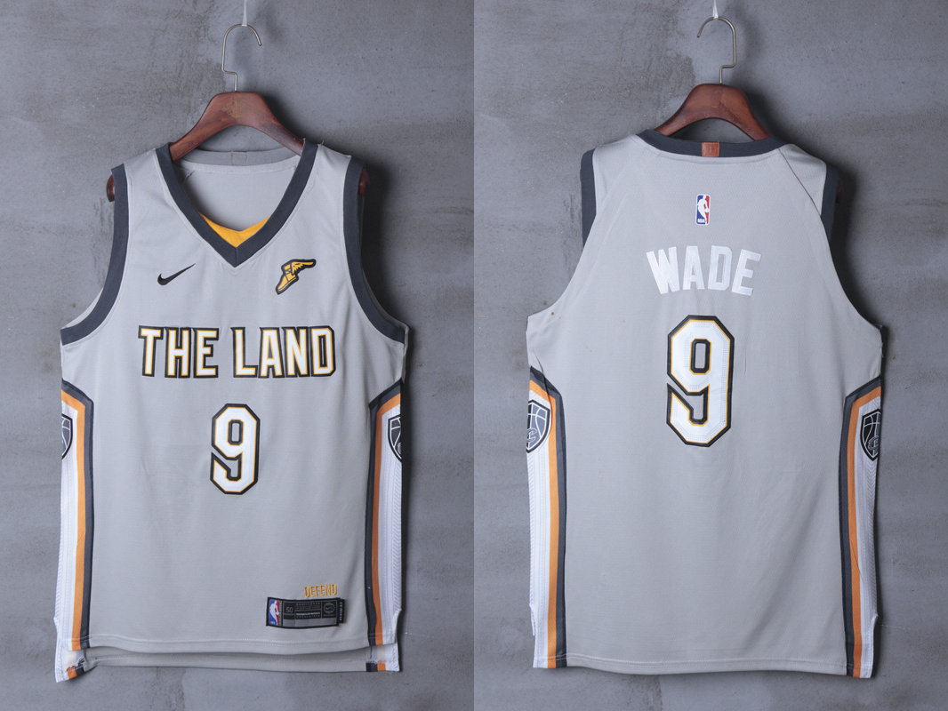 Cavaliers 9 Dwyane Wade Silver City Edition Nike Authentic Jersey
