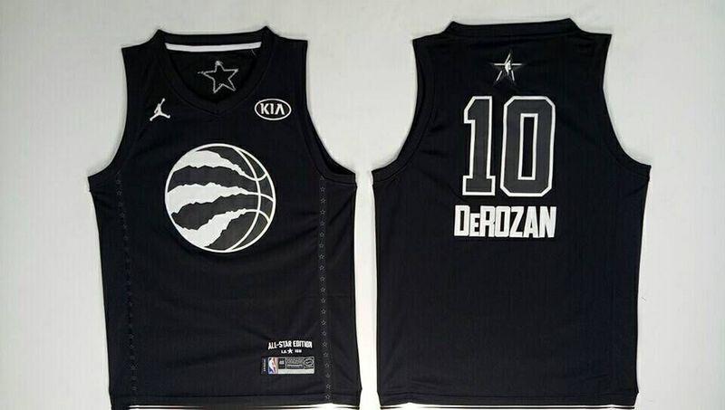 Raptors 10 DeMar DeRozan Black 2018 All-Star Game Jordan Brand Authentic Jersey