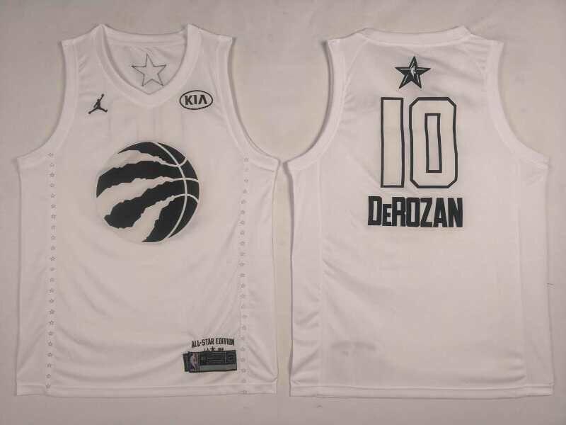 Raptors 10 DeMar DeRozan White 2018 All-Star Game Jordan Brand Authentic Jersey