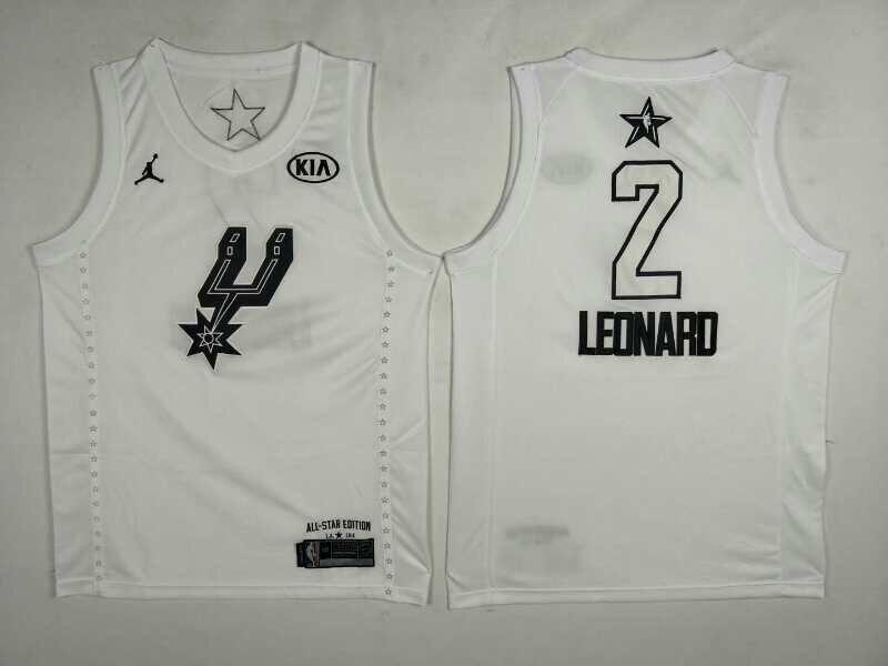 Spurs 2 Kawhi Leonard White 2018 All-Star Game Jordan Brand Authentic Jersey