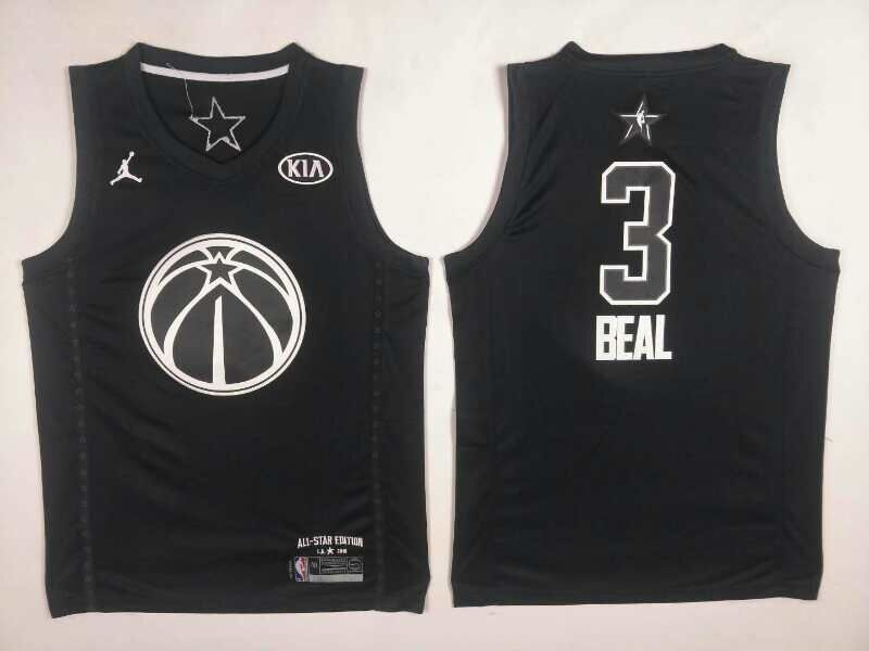 Wizards 3 Bradley Beal Black 2018 All-Star Game Jordan Brand Authentic Jersey