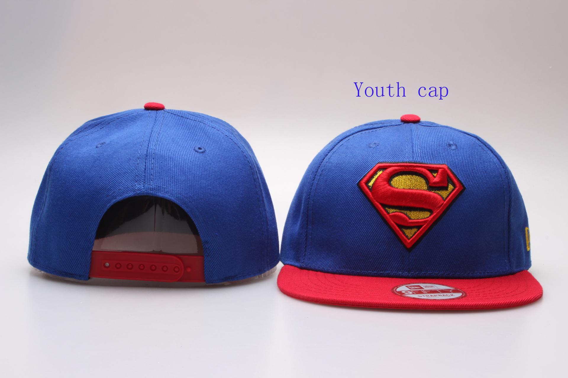 Superman Logo Kid's Snapback Adjustable Hat YP