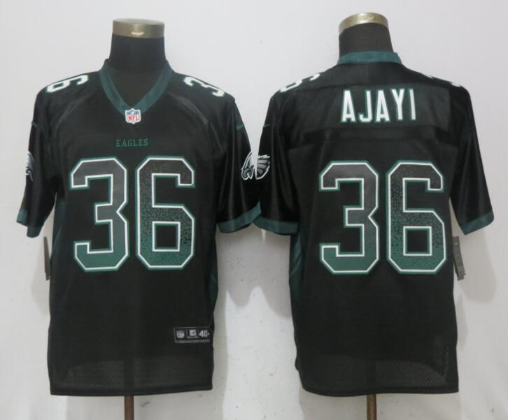 Nike Eagles 36 Jay Ajayi Black Drift Fashion Elite Jersey
