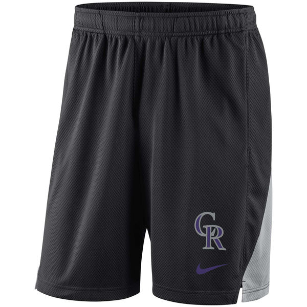 Men's Colorado Rockies Nike Black Franchise Performance Shorts